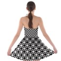 Modern Dots In Squares Mosaic Black White Strapless Bra Top Dress View2
