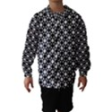 Modern Dots In Squares Mosaic Black White Hooded Wind Breaker (Kids) View1