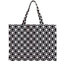 Modern Dots In Squares Mosaic Black White Large Tote Bag View2