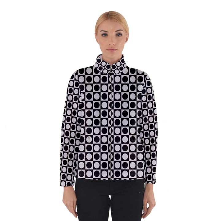 Modern Dots In Squares Mosaic Black White Winterwear