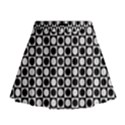 Modern Dots In Squares Mosaic Black White Mini Flare Skirt View1
