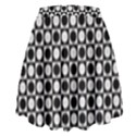 Modern Dots In Squares Mosaic Black White High Waist Skirt View2