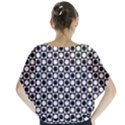 Modern Dots In Squares Mosaic Black White Blouse View2