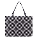 Modern Dots In Squares Mosaic Black White Medium Tote Bag View1