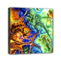 Abstract Fractal Batik Art Green Blue Brown Mini Canvas 6  x 6  View1