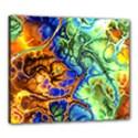 Abstract Fractal Batik Art Green Blue Brown Canvas 24  x 20  View1