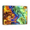 Abstract Fractal Batik Art Green Blue Brown Deluxe Canvas 16  x 12   View1