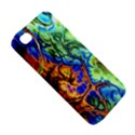 Abstract Fractal Batik Art Green Blue Brown Apple iPhone 4/4S Hardshell Case View5