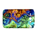 Abstract Fractal Batik Art Green Blue Brown HTC ChaCha / HTC Status Hardshell Case  View1