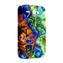 Abstract Fractal Batik Art Green Blue Brown HTC ChaCha / HTC Status Hardshell Case  View2