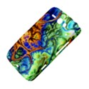 Abstract Fractal Batik Art Green Blue Brown HTC ChaCha / HTC Status Hardshell Case  View4