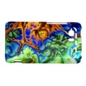 Abstract Fractal Batik Art Green Blue Brown HTC Vivid / Raider 4G Hardshell Case  View1
