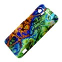 Abstract Fractal Batik Art Green Blue Brown HTC Vivid / Raider 4G Hardshell Case  View4