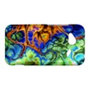 Abstract Fractal Batik Art Green Blue Brown HTC Droid Incredible 4G LTE Hardshell Case View1