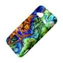 Abstract Fractal Batik Art Green Blue Brown HTC Droid Incredible 4G LTE Hardshell Case View4