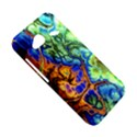 Abstract Fractal Batik Art Green Blue Brown HTC Droid Incredible 4G LTE Hardshell Case View5