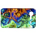 Abstract Fractal Batik Art Green Blue Brown HTC Incredible S Hardshell Case  View1