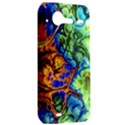 Abstract Fractal Batik Art Green Blue Brown HTC Incredible S Hardshell Case  View2