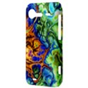 Abstract Fractal Batik Art Green Blue Brown HTC Incredible S Hardshell Case  View3