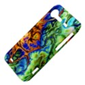Abstract Fractal Batik Art Green Blue Brown HTC Incredible S Hardshell Case  View4
