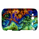 Abstract Fractal Batik Art Green Blue Brown HTC Wildfire S A510e Hardshell Case View1