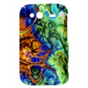 Abstract Fractal Batik Art Green Blue Brown HTC Wildfire S A510e Hardshell Case View3