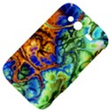 Abstract Fractal Batik Art Green Blue Brown HTC Wildfire S A510e Hardshell Case View4