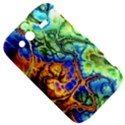 Abstract Fractal Batik Art Green Blue Brown HTC Wildfire S A510e Hardshell Case View5