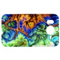 Abstract Fractal Batik Art Green Blue Brown HTC Desire HD Hardshell Case  View1