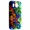 Abstract Fractal Batik Art Green Blue Brown HTC Desire HD Hardshell Case  View2