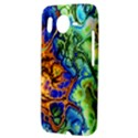 Abstract Fractal Batik Art Green Blue Brown HTC Desire HD Hardshell Case  View3