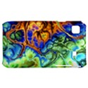 Abstract Fractal Batik Art Green Blue Brown Samsung Galaxy S i9000 Hardshell Case  View1