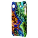 Abstract Fractal Batik Art Green Blue Brown Samsung Galaxy S i9000 Hardshell Case  View3