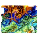Abstract Fractal Batik Art Green Blue Brown Apple iPad 2 Hardshell Case View1