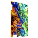 Abstract Fractal Batik Art Green Blue Brown Apple iPad 2 Hardshell Case View2