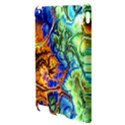 Abstract Fractal Batik Art Green Blue Brown Apple iPad 2 Hardshell Case View3