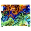 Abstract Fractal Batik Art Green Blue Brown Apple iPad 2 Hardshell Case (Compatible with Smart Cover) View1