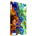 Abstract Fractal Batik Art Green Blue Brown Apple iPad 2 Hardshell Case (Compatible with Smart Cover) View2