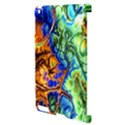 Abstract Fractal Batik Art Green Blue Brown Apple iPad 2 Hardshell Case (Compatible with Smart Cover) View3