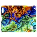 Abstract Fractal Batik Art Green Blue Brown Apple iPad 3/4 Hardshell Case View1