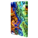 Abstract Fractal Batik Art Green Blue Brown Apple iPad 3/4 Hardshell Case View3