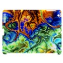 Abstract Fractal Batik Art Green Blue Brown Apple iPad 3/4 Hardshell Case (Compatible with Smart Cover) View1
