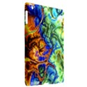 Abstract Fractal Batik Art Green Blue Brown Apple iPad 3/4 Hardshell Case (Compatible with Smart Cover) View2