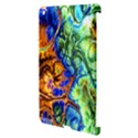 Abstract Fractal Batik Art Green Blue Brown Apple iPad 3/4 Hardshell Case (Compatible with Smart Cover) View3