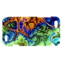 Abstract Fractal Batik Art Green Blue Brown HTC One V Hardshell Case View1
