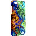 Abstract Fractal Batik Art Green Blue Brown HTC One V Hardshell Case View2