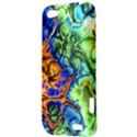 Abstract Fractal Batik Art Green Blue Brown HTC One V Hardshell Case View3