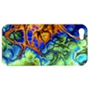 Abstract Fractal Batik Art Green Blue Brown Apple iPhone 5 Hardshell Case View1