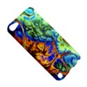 Abstract Fractal Batik Art Green Blue Brown Apple iPod Touch 5 Hardshell Case View5