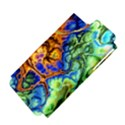 Abstract Fractal Batik Art Green Blue Brown Apple iPhone 5 Hardshell Case (PC+Silicone) View4